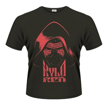 Star Wars The Force Awakens - Kylo Ren Head (Red Print) T-Shirt M