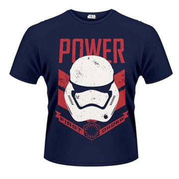 Star Wars The Force Awakens - Stormtrooper Power First Order T-Shirt S