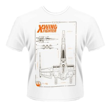 Star Wars The Force Awakens - X-Wing Maintenance Manual T-Shirt XL