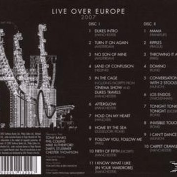 Live Over Europe 2007 CD