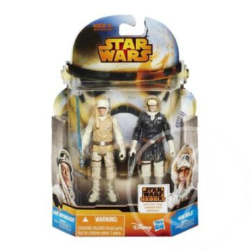 Star Wars Mission Series: Luke Skywalker és Han Solo 2db-os figura szett 10cm - Hasbro