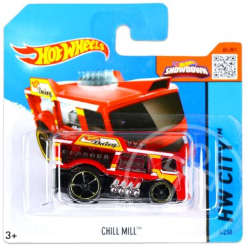 Hot Wheels City: Chill Mill kisautó - piros
