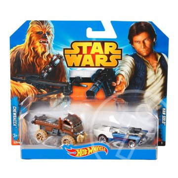 Hot Wheels: Star Wars kisautók - Chewbacca és Han Solo