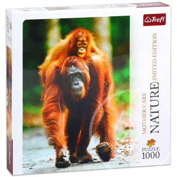 Nature Limited Edition: Anyai szeretet puzzle - Orangután, 1000 db