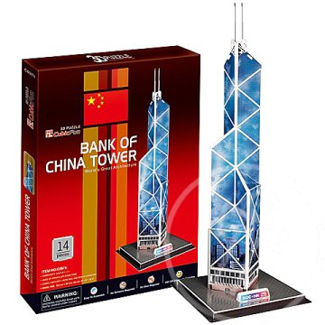 Bank of China Tower 3D puzzle 14db - CubicFun