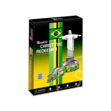 Christ the redeemer 3D puzzle - 22 darabos