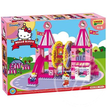 Unico: Hello Kitty Vidámpark építőkocka szett 114db-os