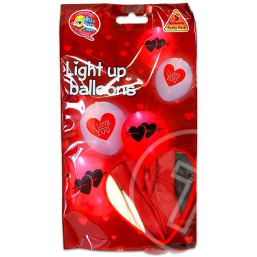 I love you LED-es lufi - 3 darabos