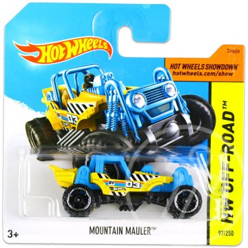 Hot Wheels Off-Road: Mountain Mauler kisautó - kék-sárga