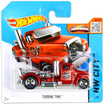 Hot Wheels City: Turbine Time kisautó - piros