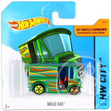 Hot Wheels City: Bread Box kisautó - zöld