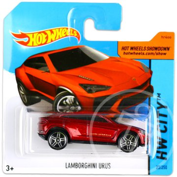 Hot Wheels City: Lamborghini Urus kisautó - vörös
