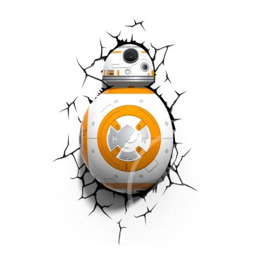 Star Wars BB8 3D fali lámpa