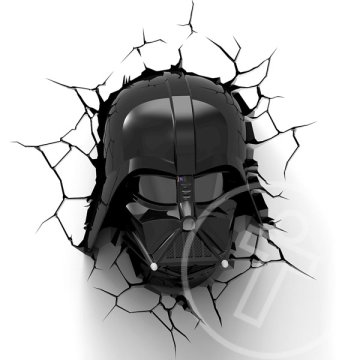 Star Wars Darth Wader 3D fali lámpa