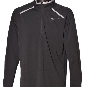 HALF-ZIP LONG SLEEVE TOP