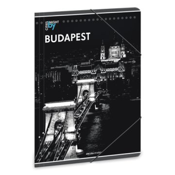 Budapest by night A4 gumis map