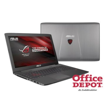 "ASUS ROG G752VT-GC046D 17,3"" FHD/Intel Core i7-6700HQ/8GB/1TB/GeForce GTX 970M 3GB/DVD író/szürke Gamer notebook"