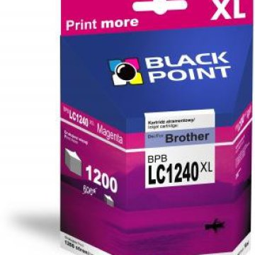 Black Point patron BPBLC1240XLM (Brother LC1240M) piros