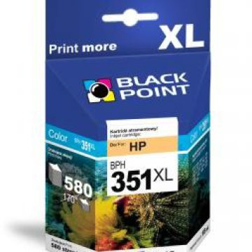 Black Point patron BPH351XL (HP CB338EE) színes