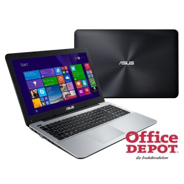 "ASUS X555UJ-XO127T 15,6""/Intel Core i5-5200U/4GB/1TB/GeForce 920M 2GB/Win10/DVD író/fekete-ezüst notebook"