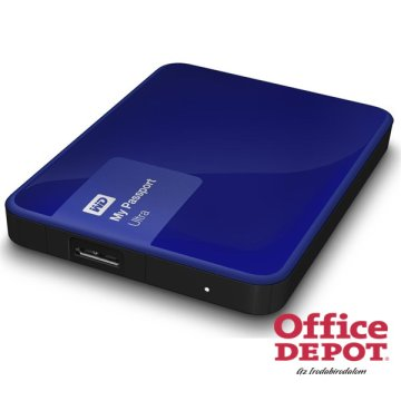 "Western Digital 2,5"" 3000GB külső USB3.0 kék My Passport Ultra Noble Blue winchester"
