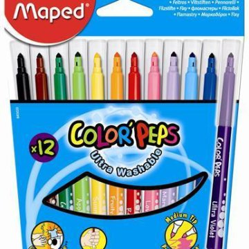 Maped Color Peps 1-5 mm kimosható filctoll 12szín
