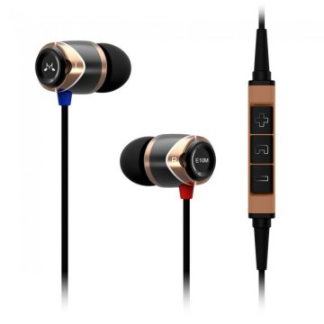 SoundMAGIC E10M In-Ear headset MFI, fekete-arany