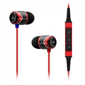 SoundMAGIC E10M In-Ear headset MFI, fekete-piros