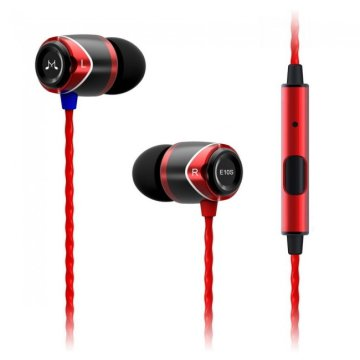 SoundMAGIC E10S In-Ear headset fekete-piros