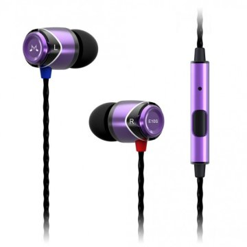SoundMAGIC E10S In-Ear headset lila-fekete