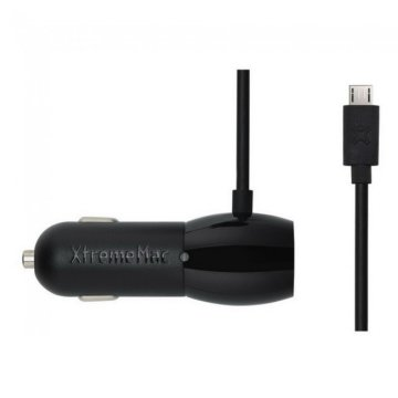 XtremeMac InCharge Auto Plus szivargy microUSB 3,6A Fekete