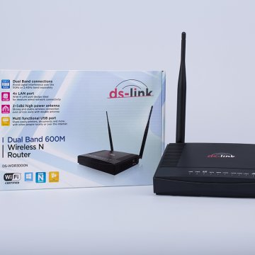 DS-LINK DS-WDR3000N  300M+300M dual-band wifi router USBport