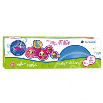 Littlest Pet Shop folyékony tempera 12x20ml