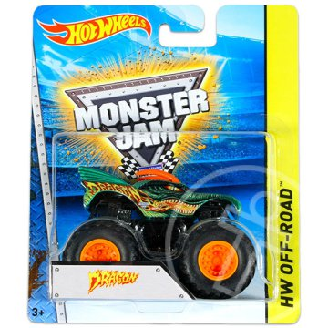 Hot Wheels Off-Road: Monster Jam terepjárók - Dragon, zöld