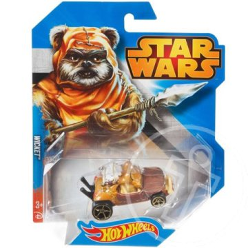 Hot Wheels - Star Wars: Wicket karakter kisautó 1/64 - Mattel