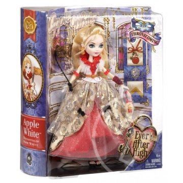 Ever After High: Egyszervolt Mesés sulibál babák - Apple White