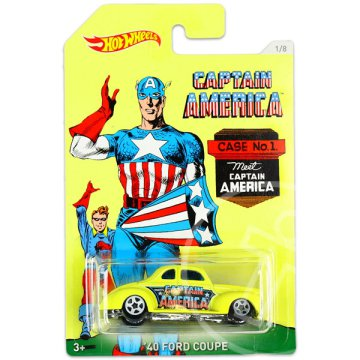Hot Wheels: Marvel Amerika Kapitány 3: 40 Ford Coupe kisautó