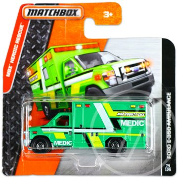 Matchbox Heroic Rescue: Ford E-350 Ambulace
