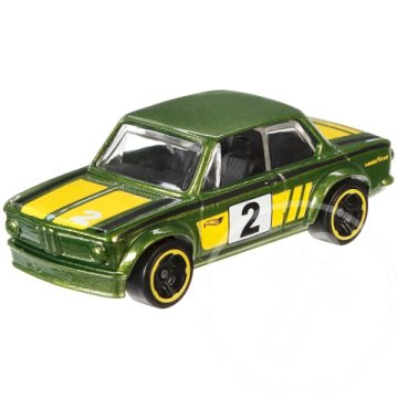 Hot Wheels BMW Series: BMW 2002 kisautó 1/64 zöld-sárga - Mattel