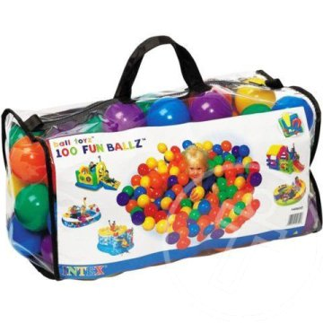 Fun Ballz 8cm-es kislabda 100db - Intex