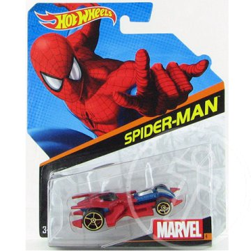 Hot Wheels Marvel: Pókember 1/64 kisautó - Mattel
