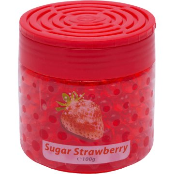 57219 DeoBalls Illatgyöngyök, Sugar Strawberry, 100 g