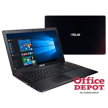 "ASUS X550VX-DM187D 15,6"" FHD/Intel Core i5-6300HQ/4GB/1TB/GeForce GTX 950M 2GB/DVD író/fekete-piros notebook"