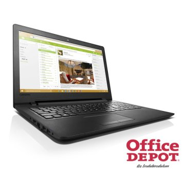 "LENOVO 110 80T70074HV 15,6""/Intel Quad-Core N3710/4GB/500GB/DVD író/fekete/Win10 notebook"