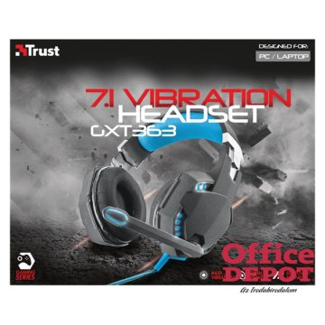 Trust GXT 363 7.1 Bass Vibration gamer USB headset