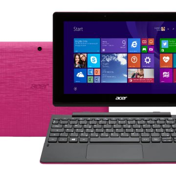 "Aspire Switch 10 E 2in1 eszköz pink NT.G1XEU.002  (10,1""/Intel Atom/64GB eMMC/Windows 8.1)"
