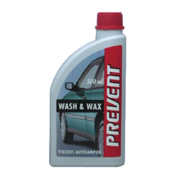 AUTÓSAMPON 500ML, VIASZOS           WASH&WAX, PREVENT