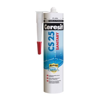 CERESIT CS 25 SZANITER SZILIKON 280ML SILVER