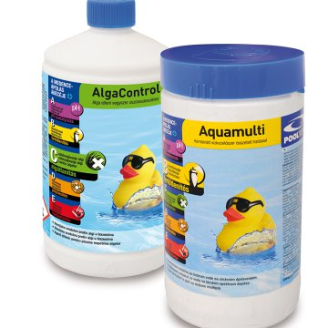 POOLCLEAN DUO PACK MEDENCEKÉMIA     ALGACONTROL 1L+AQUAMULTI 1KG