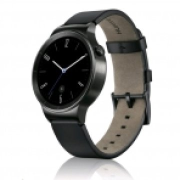 HUAWEI WATCH BLACK, BLACK LEATHER BAND